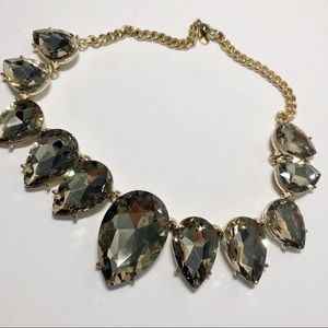 Incredible Statement Necklace Bib Flat Faceted